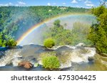 Colorful Rainbow Over Iguassu...