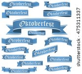 big collection of blue colored... | Shutterstock .eps vector #475311337