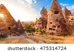 sunset in a picturesque... | Shutterstock . vector #475314724