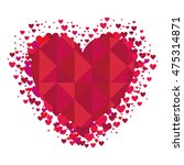 heart love card icon vector... | Shutterstock .eps vector #475314871