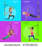 vector detailed character fit... | Shutterstock .eps vector #475318231