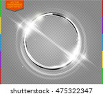 abstract luxury chrome metal... | Shutterstock .eps vector #475322347