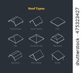 roof types vector set. the... | Shutterstock .eps vector #475323427