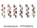 many colleagues workforce... | Shutterstock . vector #475328251