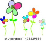 Simple Multicolored Flowers...