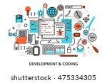 modern flat editable line...   Shutterstock .eps vector #475334305