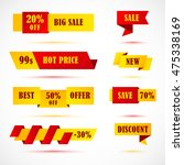 vector stickers  price tag ... | Shutterstock .eps vector #475338169