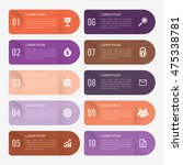 infographic template orange and ... | Shutterstock .eps vector #475338781
