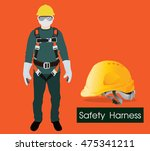 safety harness equipment and... | Shutterstock .eps vector #475341211