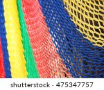 colorful of hammock made from... | Shutterstock . vector #475347757