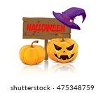 wooden board halloween | Shutterstock .eps vector #475348759