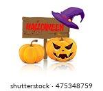 wooden board halloween | Shutterstock .eps vector #475348759