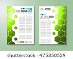 brochure template  flyer design ... | Shutterstock .eps vector #475350529