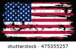 grunge old usa flag.vector... | Shutterstock .eps vector #475355257
