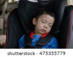 asian baby boy sleeping in the...   Shutterstock . vector #475355779