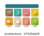 web design and development flat ... | Shutterstock .eps vector #475356649