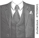 business suit. hand drawn... | Shutterstock .eps vector #475358041