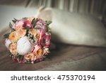 bridal bouquet made from... | Shutterstock . vector #475370194