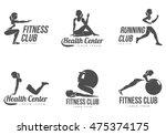 Workout Logo. Fitness  Aerobic...