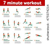 7 minute workout. fitness ... | Shutterstock .eps vector #475374214