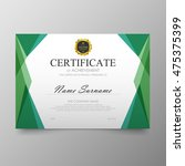 certificate template awards... | Shutterstock .eps vector #475375399