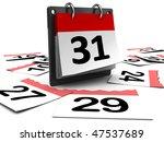 3d Illustration Of Day Calendar ...