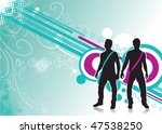 abstract floral wave line... | Shutterstock .eps vector #47538250