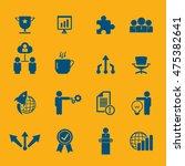 business icon set | Shutterstock .eps vector #475382641