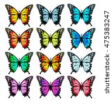 big collection of colorful... | Shutterstock .eps vector #475383247