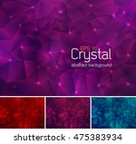 polygonal crystal abstract...