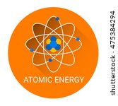 atomic energy icon flat... | Shutterstock .eps vector #475384294