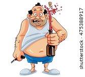 cartoon character  fat man... | Shutterstock .eps vector #475388917