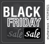 retro black friday template ... | Shutterstock .eps vector #475393021