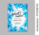 wedding invitation template or... | Shutterstock .eps vector #475398745