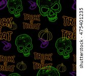 Seamless Pattern With Scary...