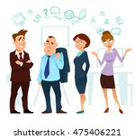 business  cartoon characters ... | Shutterstock .eps vector #475406221
