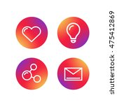 different simple web pictograms ... | Shutterstock .eps vector #475412869