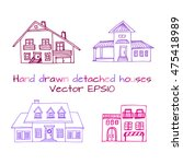 hand drawn set of sketched... | Shutterstock .eps vector #475418989
