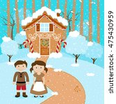 vector set of hansel and gretel ... | Shutterstock .eps vector #475430959