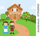 vector set of hansel and gretel ... | Shutterstock .eps vector #475430965