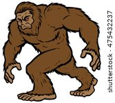 Stock vector bigfoot mascot 475432237
