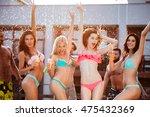 group of best friends having... | Shutterstock . vector #475432369