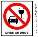 vector don't drink and drive... | Shutterstock .eps vector #475432795
