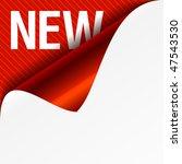 sign new   curled corner.... | Shutterstock .eps vector #47543530
