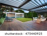 a beautiful courtyard with a... | Shutterstock . vector #475440925