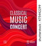 classical music concert poster... | Shutterstock .eps vector #475442299