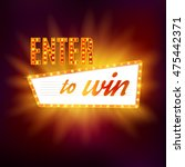 enter to win vector sign  win... | Shutterstock .eps vector #475442371