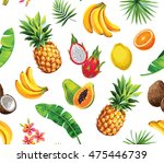 seamless pattern with tropical... | Shutterstock .eps vector #475446739