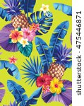 seamless pattern with... | Shutterstock .eps vector #475446871