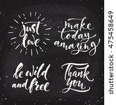 vector chalk lettering. just...   Shutterstock .eps vector #475458649